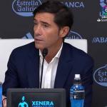 Marcelino durante una rueda de prensa (Youtube)