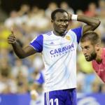 Dwamena en un partido con el Zaragoza. / cartv.es