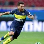 Messi en un montaje con la camiseta de Boca. / depor.com