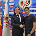 Míchel, con el Rayo / twitter