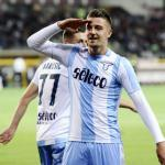 Milinkovic-Savic, celebrndo un gol / twitter