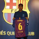 Todibo, el día de su fichaje (FC Barcelona)