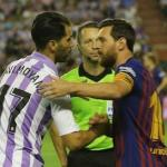 Javi Moyano excusó la derrota del Valladolid ante el Barça. Foto: Marca