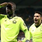 Nicolas Pépé celebra un gol con el Lille / Ligue 1