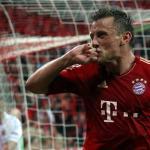 Ivica Olic celebra un gol en el Allianz Arena