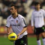 Paco Alcacer durante un partido en Mestalla