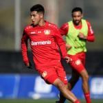 Exequiel Palacios, desaparecido en el Bayer Leverkusen