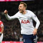 Eriksen celebra un gol con el Tottenham (EFE)