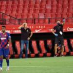 Los errores de Quique Setién ponen en peligro el título de Liga   FOTO: BARCELONA