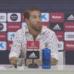 Ramos, esta tarde en sala de prensa (Real Madrid)