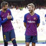 Samper, Suárez, Messi y Piqué / Barça