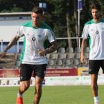 Sanabria, durante un entreno (Real Betis)