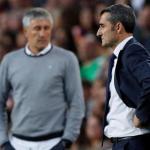 Setién tiene menos gol que Valverde | La Vanguardia