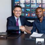 "Bartomeu y elsiguen buscando un ""9"" para Barça / Twitter"