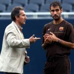 Txiki Beguiristain dialoga con Josep Guardiola
