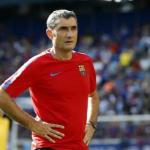 Valverde en un entrenamiento con el Barça / Barça