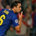 Xavi Hernández celebra un gol marcado durante la temporada 2008/09 / UEFA